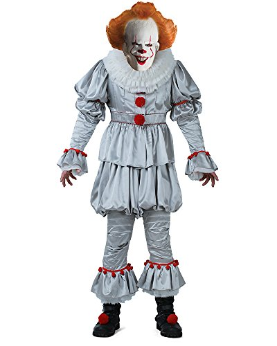 Cosplay.fm Men's Pennywise The Dancing Clown Cosplay Costume Halloween (Men -