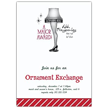 amazon com leg lamp holiday ornament exchange invitations health