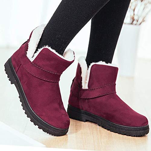 Randonne Snow Trekking Lacets Chaudes Impermables Plates Doubles Boots En Chaussures Bottines Sude drapantes Juleya Bottes Anti De Fourrure D'hiver Lgres 4nBwFq