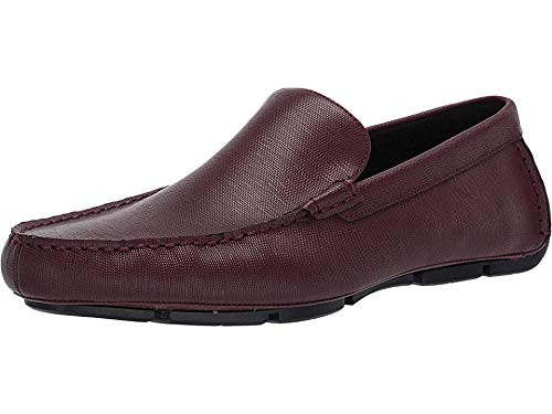 Calvin Klein Men's Kaleb Oxblood Hatched Embossed Leather 10 M -
