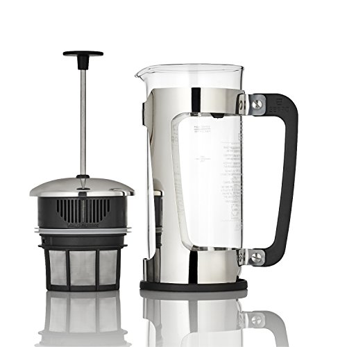 Espro 1218C P5 French press, 18 Ounce, Glass Stainless Steel
