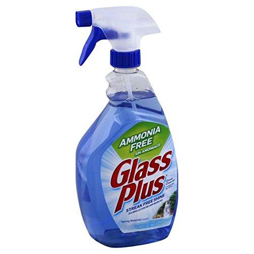 Glass Plus Glass Cleaner, 32 fl oz Bottle, Multi-Surface Glass Cleaner (Pack of - Cleaner Ammonia Glass Free