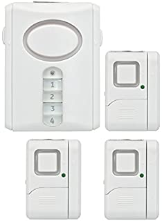 GE Personal Security Alarm Kit, Includes Deluxe Door Alarm With Keypad  Activation And Window/