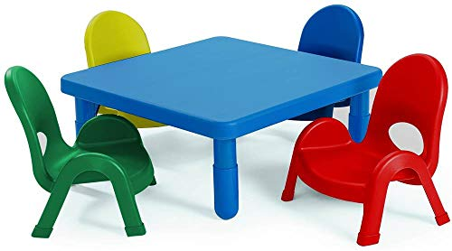 Angeles 5-Pc MyValue Square Toddler Table and Chair Set