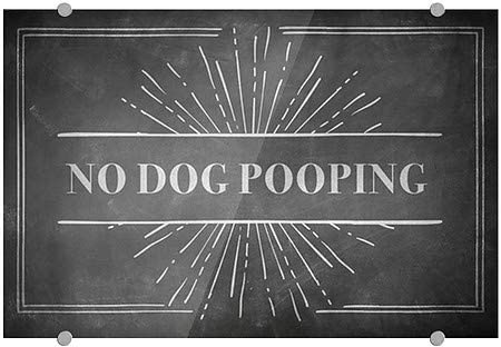 Chalk Burst Premium Brushed Aluminum Sign No Dog Pooping 5-Pack 18x12 CGSignLab