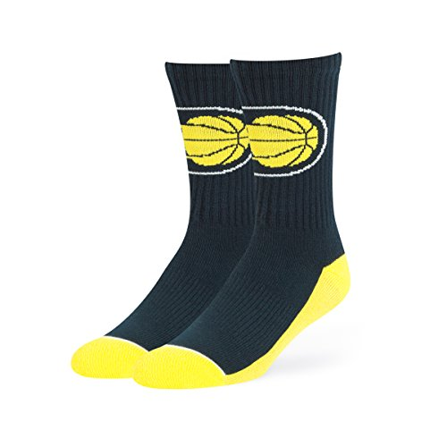 NBA Indiana Pacers OTS Anthem Sport Sock, Navy, Large