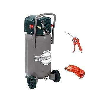 MERCURE Compresseur vertical avec accessoires - 50 L 1,5 CV 8 bars: Amazon.es: Coche y moto