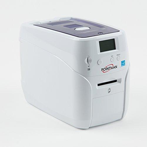 Pointman Nuvia N10 Single-Sided ID Card Printer - Manual Feed with USB & - Zebra Manuals Printer