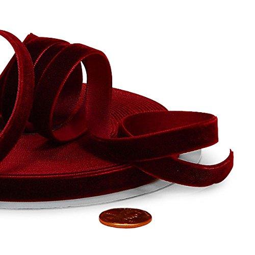Burgundy Velvet Ribbon 1'' X 10 Yards by Paper Mart