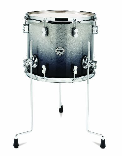Pacific Drums PDCM1214TTSB 12 x 14 Inches Floor Tom with Chrome Hardware - Silver to Black Fade [並行輸入品] B07C9JPDTK