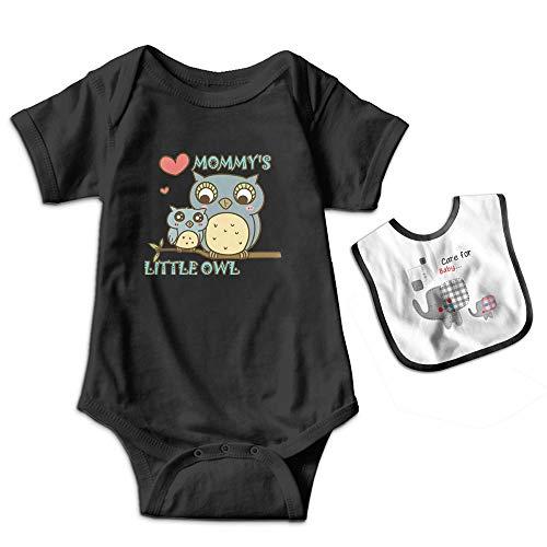 Sander Renata Mommy's Little Owl Baby Boys Girls Cotton Short-Sleeve Bodysuit