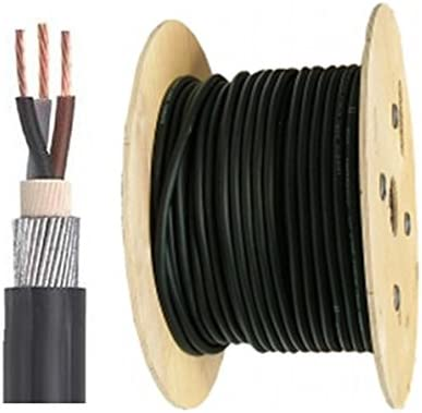 4.0mm SWA 6942X 2 CORE STEEL WIRE ARMOURED CABLE PER 10m 25m 50m 100m