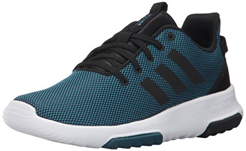 Image of adidas Kids CF Racer TR Running Shoe, Petrol Night/Black/White, 13K M US Little Kid