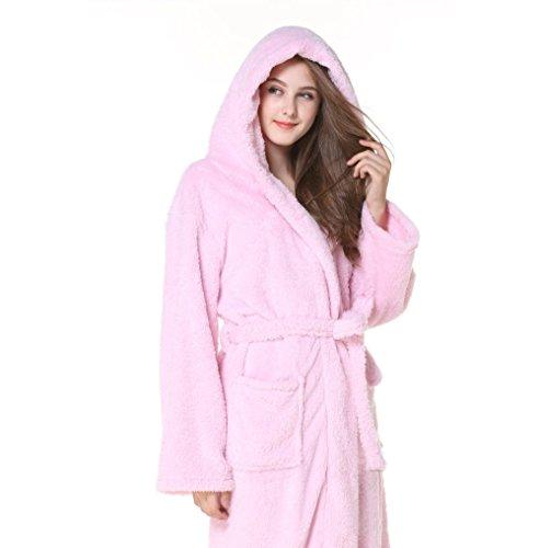 Grande Albornoz Pijamas De Extra Terciopelo Oscuro Plush Xl Pink Tamaño Gris Pareja Coral color Fei Warm R1qxXgwdX