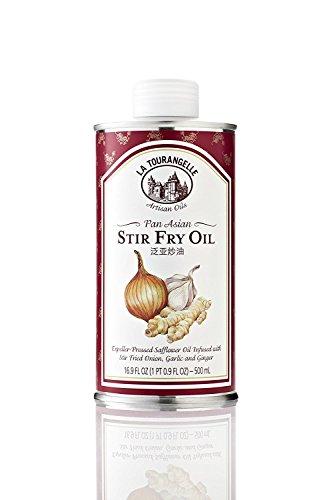 La Tourangelle Pan Asian Stir Fry Oil – Subtle flavors of stir fried onions, garlic and ginger – Expeller-pressed – 16.9 Fl. Oz ( 2 Pack )