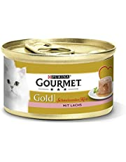 Purina GOURMET Gold Smeltende kern: kattenvoer, nat voer voor volwassen katten, pasta met sauenkern, hoeveelheid: 12 stuks (12 x 85 g)