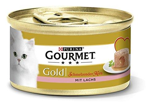 Purina Gourmet Gold Fondant: Comida húmeda para Gatos Adultos, paté con núcleo de Salsa, cantidad: 12 Unidades (12 x 85…