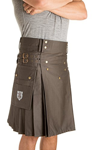 Damn Near Kilt 'Em Men's Sport Utility Kilt Large-XL Dark Gray