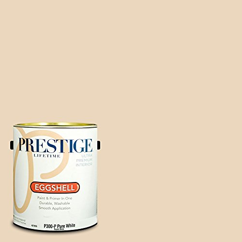 Prestige Paints Interior Paint and Primer In One, 1-Gallon, Eggshell,  Comparable Match of Benjamin Moore Creamy Satin ()