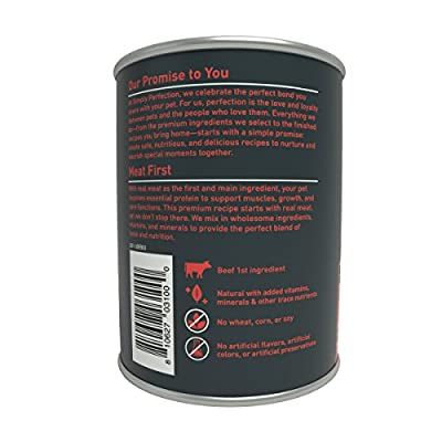 Simply Perfection Super Premium Beef Recipe Canned Dog Food 79.2oz Case, 6 cans