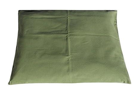 Tierra Zen ME020F Cojín Rectangular de algodón Relleno de Oliva 75 x 69 cm