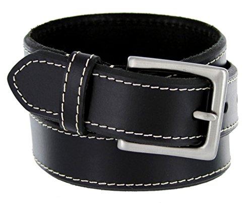 Classic Jean Beveled Edge Genuine Leather Belt for Men