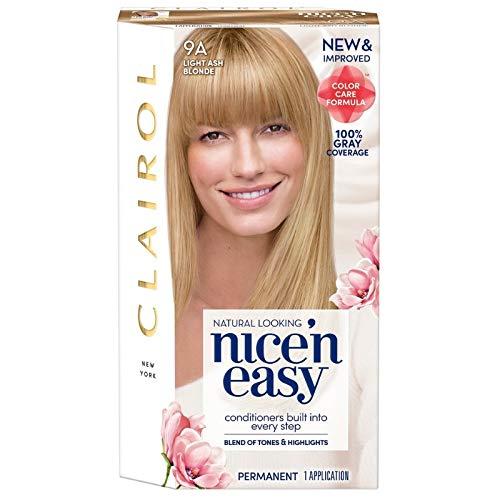 Clairol Nice 'n Easy Permanent Color, Natural Light Ash Blonde 1 ea (Nice N Easy Natural Medium Ash Blonde)