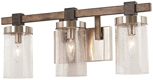 Minka Lavery Wall Light Fixtures 4633-106 Bridlewood Bath Vanity Lighting, 3-Light 180 Watts, Stone Grey from Minka Lavery