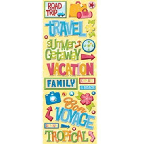 Vacation Chipboard (K & Company Citronella Adhesive Chipboard - Words)
