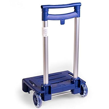 Busquets - Carro Portamochilas Plegable, color Azul