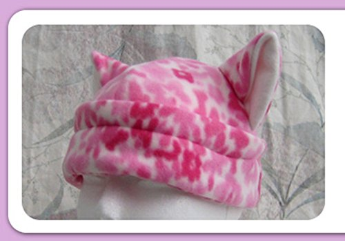 Pink Flower Cat Ears Anime Hat