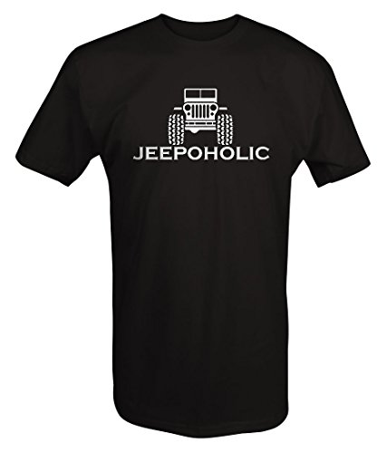 Jeepoholic Jeep Wrangler Offroad Beer & Parts Addiction T Shirt