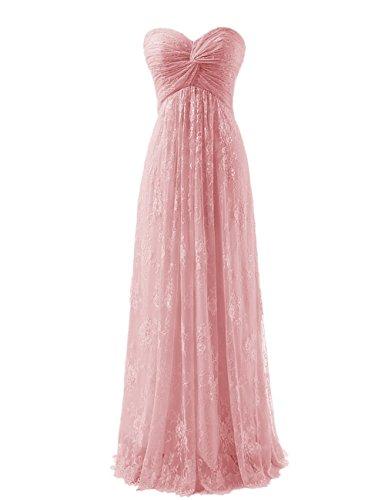 Kewl Fashion Women's Strapless Lace Flower Bridesmaid Long Prom Dress 2016 US16...