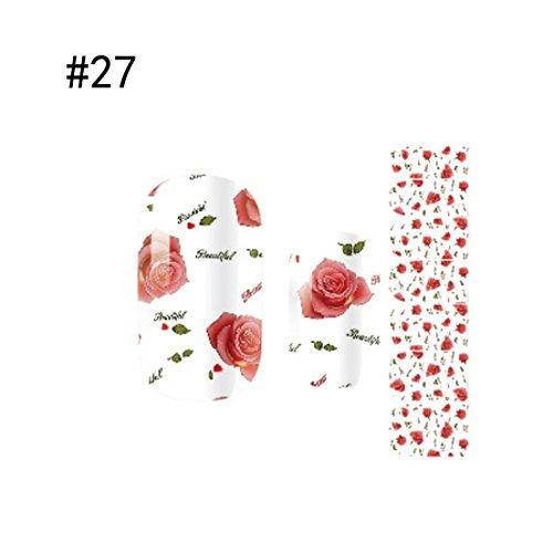 1 Sheet Stylish Popular Nail Art Stickers Full