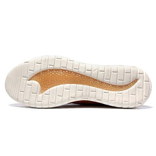 Yidiar Mens Sneakers Palestra Leggera Traspirante Sport Allaria Aperta Atletica Corsa A Piedi Scarpe Da Jogging Marrone Chiaro