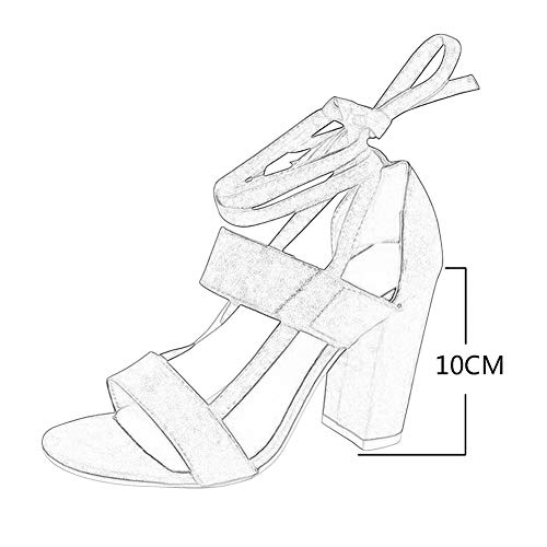 cheville daim Noir gladiateur soirée chunky à Sandals Party fille pour Daytwork en aiguille la de toe talon à ouvert sangle Elegant Sandals Chaussures bout peep romantique Femme avec qApgzx