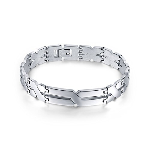 Time Pawnshop Stylish Stainless Steel Simple X-shaped Personalized Men's Bracelet