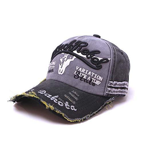 Personalised Hip-Hop Baseball Cap Cotton Casual Street Dance Sun Baseball Hats Adjustable for Women Man Gray