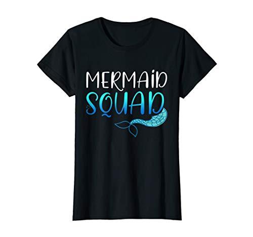 Womens Mermaid Squad TShirt Humor Funny ()