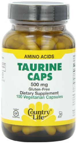 Country Life Taurine 500 mg w/B-6, 100 Capsules