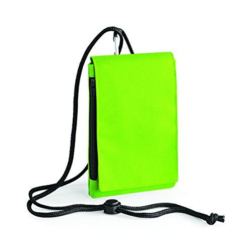 Bolso con de en monedero cremallera verde con y verde lima bolsas para velcro móvil hombro lima viajes y 8v8O1qdrwz