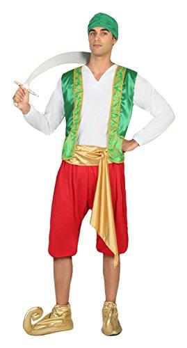 Atosa- Disfraz hombre árabe, Color verde y rojo, M-L (17347 ...