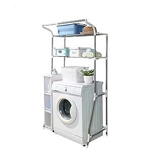 Bon Washing Machine Shelf Stainless Steel Floor Retractable Bathroom Storage  Rack (10110148cm)