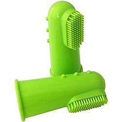 TnaIolr Super Soft Pet Finger Toothbrush Teddy Dog Brush Bad Breath Tartar Teeth Tool