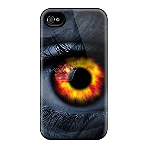 lintao diy BretPrice Scratch-free Phone Case For Iphone 4/4s- Retail Packaging - Eye