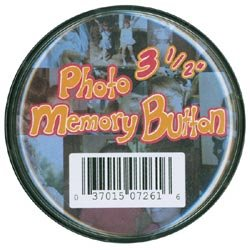 The New Image Group Bulk Buy Photo Memory Button 3 1/2 inch Clear Plastic 7261 (6-Pack) -