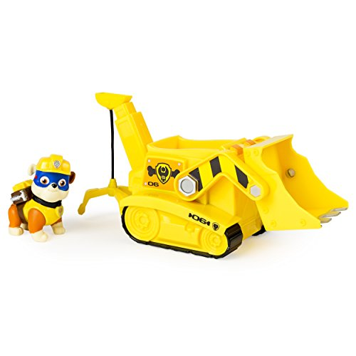 Paw Patrol Super Pup Rubble's Crane, Vehicle and Figure (works with Paw (Double Action Trucks)