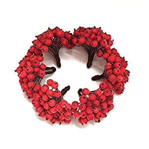 Artfen Artificial Berries 240 Counts 120 Stems Artificial Flowers Frosted Fruit DIY Wedding Flowers Gift Box Accessories Make Bridal Hair Clips Headbands Dress 95