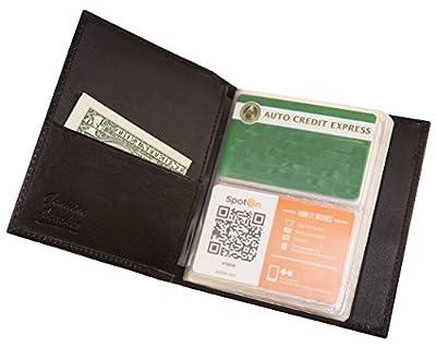 AG Wallets Genuine Leather Hipster Bifold 40 Business/credit Card Holder (Black)