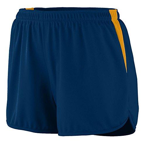 Augusta Sportswear WOMEN'S VELOCITY TRACK SHORT XL Navy/Gold